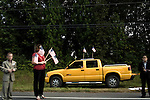 July 3, 2008. Washington, NC.. The funeral of Spc. Joel A. Taylor, assigned to the 1st Squadron, 3rd Armored Cavalry Regiment, Fort Hood, Texas; died June 25 in Mosul, Iraq, of wounds sustained when his vehicle encountered an improvised explosive device on June 24, 2008. He was 20.. Hundreds of local people lined the 14 mile route to the Taylor family cemetery. The short trip took almost an hour as the procession slowed to honor the people who showed up to support the family.