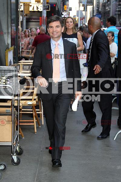 NEW YORK, NY - July 17, 2012: George Stephanopoulos at Good Morning America studios in New York City. © RW/MediaPunch Inc. *NORTEPHOTO*<br /> **SOLO*VENTA*EN*MEXICO**<br /> **CREDITO*OBLIGATORIO** <br /> **No*Venta*A*Terceros**<br /> **No*Sale*So*third**<br /> *** No*Se*Permite Hacer Archivo**<br /> **No*Sale*So*third**