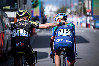Michael Hepburn (AUS/Mitchelton Scott), Niki Terpstra (NED/Direct Energie), post race <br /> <br /> Antwerp Port Epic 2019 <br /> One Day Race: Antwerp > Antwerp 187km<br /> <br /> ©kramon