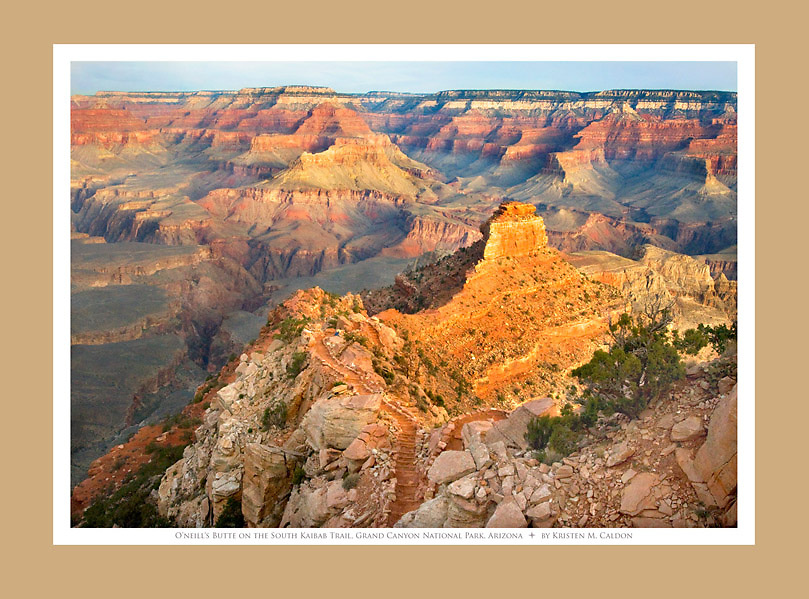 Winter Sunrise on Oneills Butte<br /> South Kaibab Trail<br /> Grand Canyon National Park