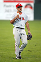 September 10 2008:  Darren Blocker of the Lowell Spinners, Class-A affiliate of the Boston Red Sox, during a game at Dwyer Stadium in Batavia, NY.  Photo by:  Mike Janes/Four Seam Images