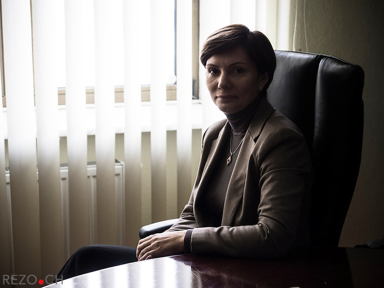 Kiev, Ukraine, 5 december 2013. Elena Bondorenko, member of parliament from Party of Region, photographed in party of region's headquarter.