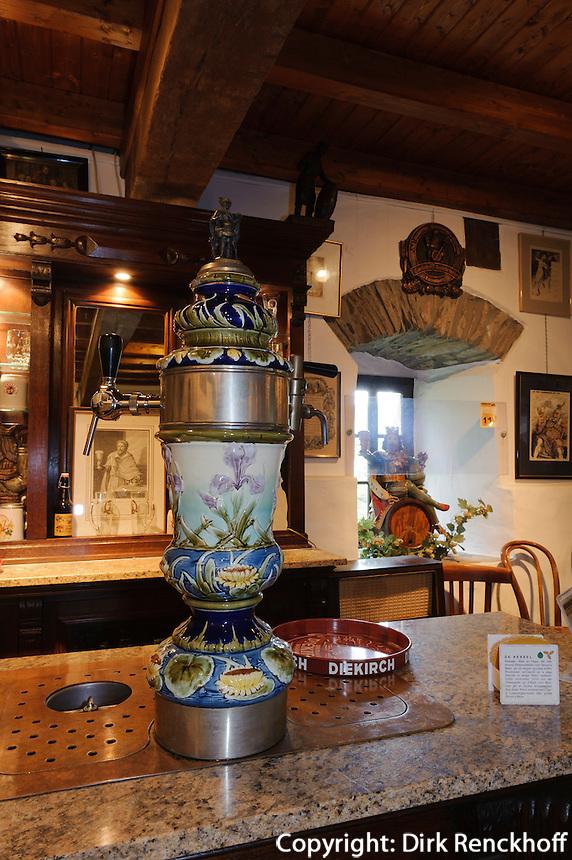 Brauereimuseum im Schloss von Wiltz, Luxemburg