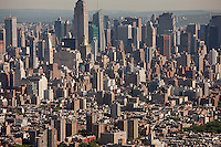midtown, looking north, Aerial views, New York, NY