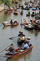 Thaïlande/Env de Bangkok: Marché flottant de Tha Kha