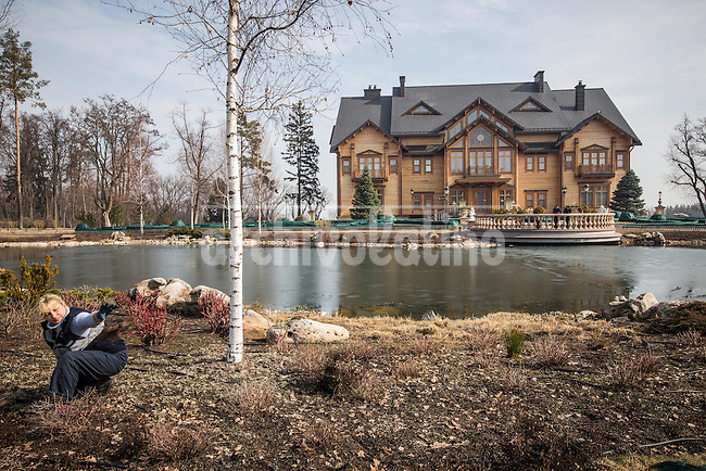 The private residence of former president of Ukraine  Viktor Yanukovich in the outskirts of Kiev. After bloody protests that kicked him out of the government and the country, people invaded his private residence and discovered the shocking opulence of the place. Since then the destiny of the building is not clear, but everything is preserved as Yanukovich left it.