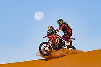 12th January 2020, Riyadh, Saudi Arabia;  12 Barreda Bort Joan (esp), Honda, Monster Energy Honda Team 2020, Moto, Bike, Motul, action during Stage 7 of the Dakar 2020 between Riyadh and Wadi Al-Dawasir, 741 km - SS 546 km, in Saudi Arabia - Editorial Use