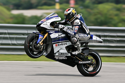 19.10.2012. Sepang, Malaysia.   Jorge Lorenzo of Yamaha Factory Racing  during the friday's free practice session for MotoGP class of  Malaysian Motorcycle Grand Prix  held at Sepang International Circuit in Sepang, Malaysia.......