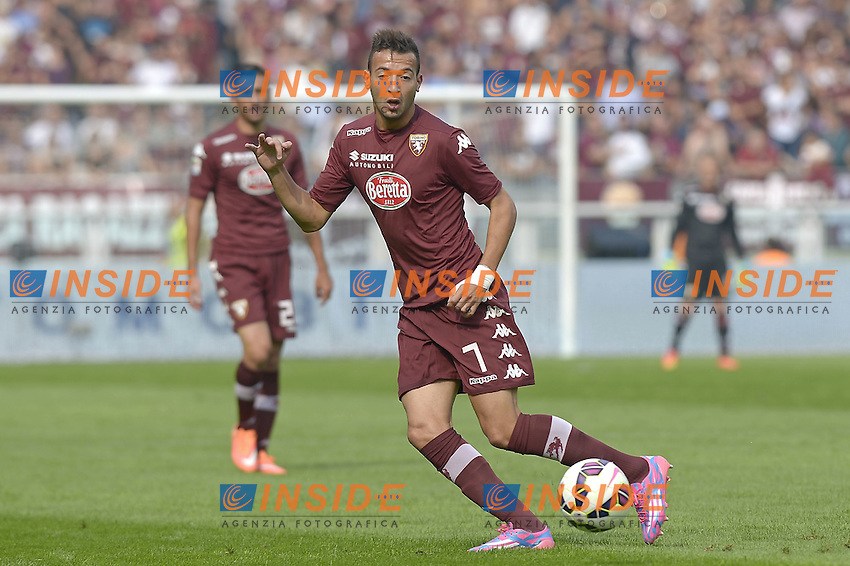 Omar El Kaddouri Torino,<br /> Torino 28-09-2014, Stadio Olimpico, Football Calcio 2014/2015 Serie A, Torino-Fiorentina, Foto Filippo Alfero/Insidefoto