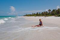 Gulf of Mexico along beach at Keewaydin Island, Naples, Florida, USA. Photo by Debi PIttman Wilkey