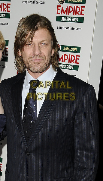 SEAN BEAN.Jameson Empire Film Awards 2009 at the Grosvenor House Hotel, Park Lane, London, England..March 29th 2009 .half length black suit jacket beard stubble facial hair .CAP/CAN.©Can Nguyen/Capital Pictures.