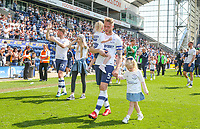 Preston North End's Tom Clarke takes his children on a lap around the pitch<br /> <br /> Photographer Alex Dodd/CameraSport<br /> <br /> The EFL Sky Bet Championship - Preston North End v Burton Albion - Sunday 6th May 2018 - Deepdale Stadium - Preston<br /> <br /> World Copyright &copy; 2018 CameraSport. All rights reserved. 43 Linden Ave. Countesthorpe. Leicester. England. LE8 5PG - Tel: +44 (0) 116 277 4147 - admin@camerasport.com - www.camerasport.com