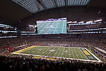 A general view of Cowboys Stadium during the opening kickoff of the  Green Bay Packers Super Bowl XLV football game against the Pittsburgh Steelers on Sunday, February 6, 2011, in Arlington, Texas. The Packers won 31-25. (AP Photo/David Stluka)