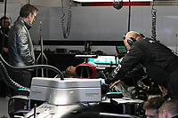 26th February 2020; Circuit De Barcelona Catalunya, Barcelona, Catalonia, Spain; Formula 1 Pre season Testing Two; James Allison, Technical Director of Mercedes AMG Petronas Motorsport watches as the mechanics change the rear wing