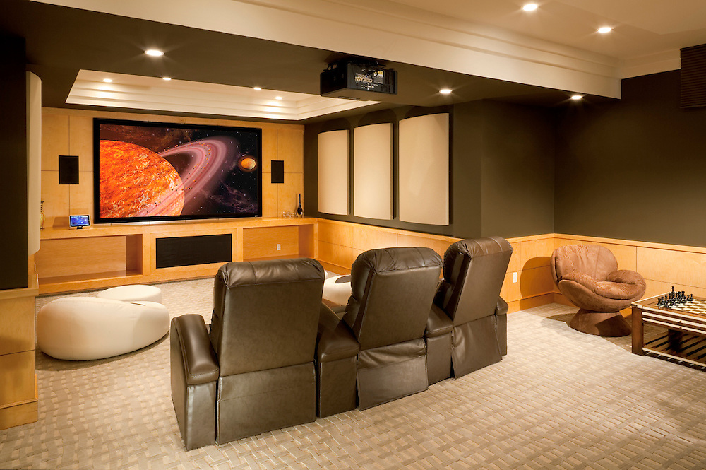 Multi Purpose Basement Media Room