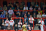 Stevenage 0 Leyton Orient 1, 17/08/2013. Broadhall Way, League One. Leyton Orient arrived in Stevenage with the swagger of a club that had started the season well, while Stevenage searched for their first point. Stevenage supporters watch from the terraces. Photo by Simon Gill