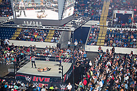 WWE Champion Jinder Mahal (right) fights against Randy Orton at a WWE Live Summerslam Heatwave Tour event at the MassMutual Center in Springfield, Massachusetts, USA, on Mon., Aug. 14, 2017. Mahal lost the match.