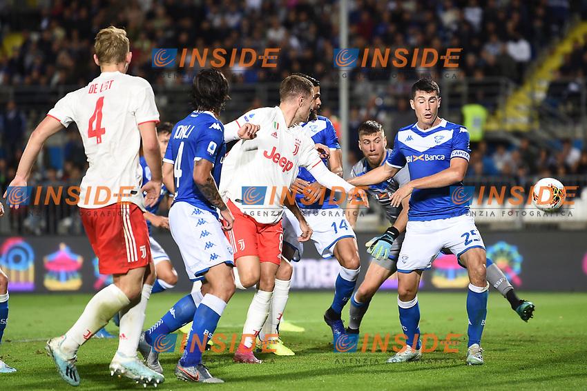 Jhon Chancellor  of Brescia makes the own goal of 1-1<br /> Brescia 24-09-2019 Stadio Rigamonti<br /> Football Serie A 2019/2020 Brescia - Juventus  <br /> Photo Matteo Gribaudi / Image Sport / Insidefoto