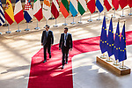 BRUSSELS - BELGIUM - 21 June 2019 -- European Council, summit meeting with heads of state. -- Giuseppe Conte Prime Minister of Italy arriving to the EU-Council. -- PHOTO: Juha ROININEN / EUP-IMAGES