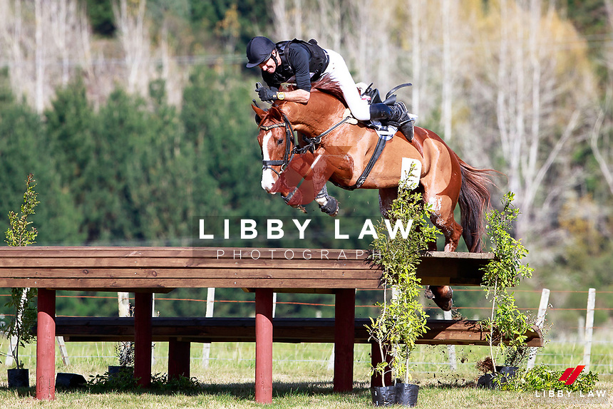 Brent Jury rides SE Hedging during the Bates NZ CCI2* Championship Cross Country at the 2017 NZL-NRM National Three Day Event Championships. National Equestrian Center, Taupo. Saturday 13 May. Copyright Photo: Libby Law Photography