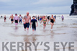 At the Connie Harnett Memorial Swim in Ballybunion on New Year's Day were Eamonn and Christian Foley