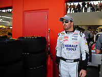 Feb. 27, 2009; Las Vegas, NV, USA; NASCAR Sprint Cup Series driver Jimmie Johnson during practice for the Shelby 427 at Las Vegas Motor Speedway. Mandatory Credit: Mark J. Rebilas-