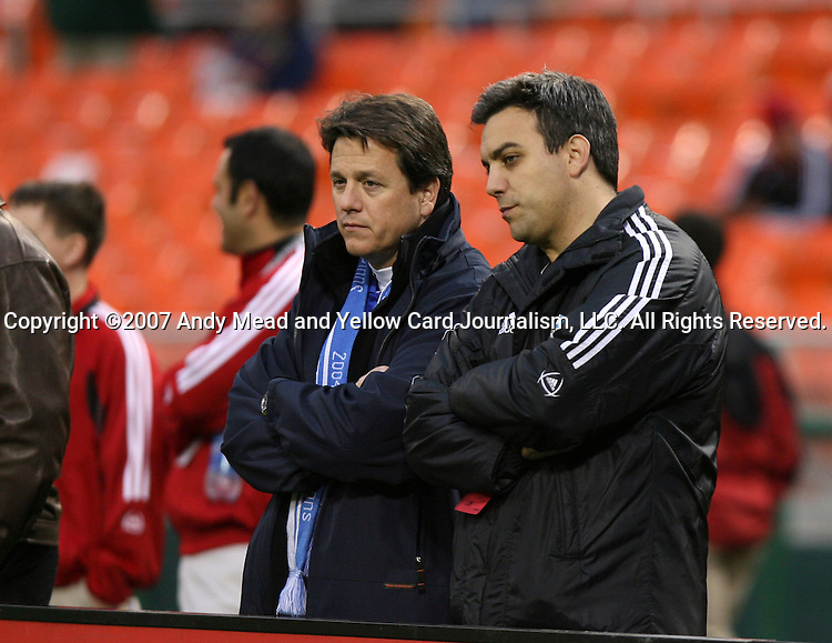 14 April 2007: New Kansas City owners Greg Maday (l) and Robb Heineman (r).  DC United played the Kansas City Wizards at RFK Stadium in Washington, DC in their Major League Soccer 2007 regular season home opener.