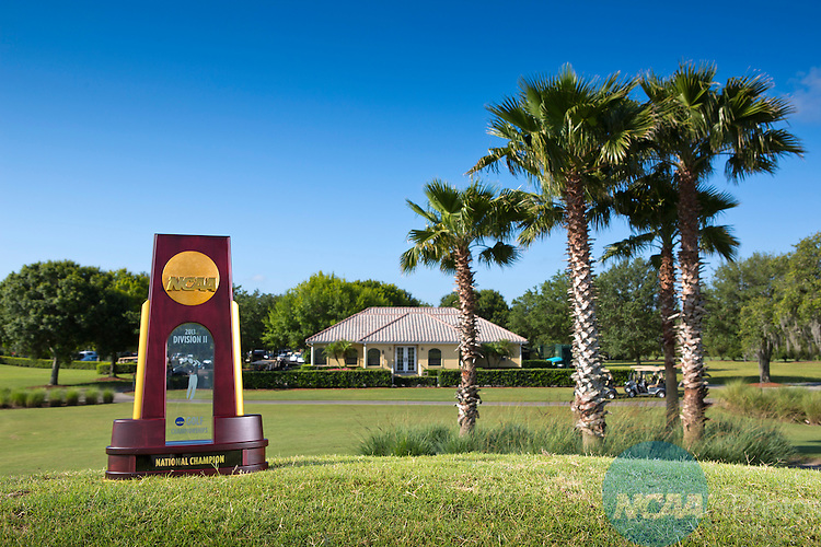 18 MAY 2013:  The championship trophy at the Division II Women's Golf Championship held at the LPGA International Golf Course in Daytona Beach, FL.  Lynn University shot a +17 to win the trophy and the national title by 3 strokes.  Matt Marriott/NCAA Photos