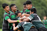 Hurricanes U15 Rugby - Taita College v Wainuiomata High School<br />  at Trentham Memorial Park, Silverstream, Upper Hutt, New Zealand on Friday 6 September 2019. <br /> Photo by Masanori Udagawa. <br /> www.photowellington.photoshelter.com