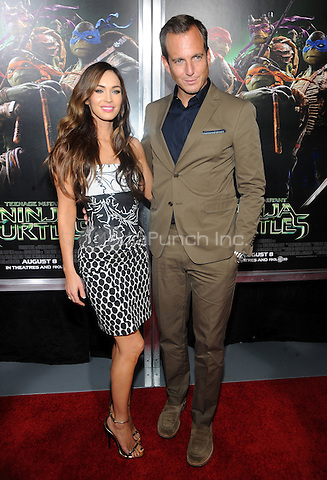 New York, NY- August 6: Actress Megan Fox and Actor Will Arnett attend the Teenage Mutant Ninja Turtles screening on August 6, 2014 at the AMC in New York. Credit: John Palmer/MediaPunch