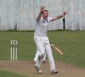 Cricket Scotland National League Final - Prestwick CC V Heriots CC - Heriots bowler Adrian Neil appeals for an lbw, not given, on his way to making 4 for 18 - picture by Donald MacLeod - 20.08.2017 - 07702 319 738 - clanmacleod@btinternet.com - www.donald-macleod.com
