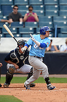 Daytona Cubs outfielder Bijan Rademacher (24) at bat during a game against the Tampa Yankees  on April 13, 2014 at George M. Steinbrenner Field in Tampa, Florida.  Tampa defeated Daytona 7-3.  (Mike Janes/Four Seam Images)
