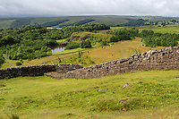 Northumberland, UK, England.  Hadrian's Wall above Walltown Quarry, near Gilsland.