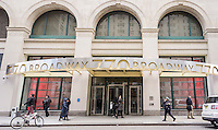 The former Wanamaker Department Store building in the East Village in New York, now rebranded as 770 Broadway, is seen on Tuesday, February 25, 2014. The social media company, Facebook, is reported to have signed a 10 year lease on 100,000 square feet on the 8th floor and part of the 7th. Rental rates are in the mid $70s per square foot and the company can expand into the entire 7th floor when the existing tenant leaves in two years.  AOL and the Huffington Post are also located in the building. (© Richard B. Levine)