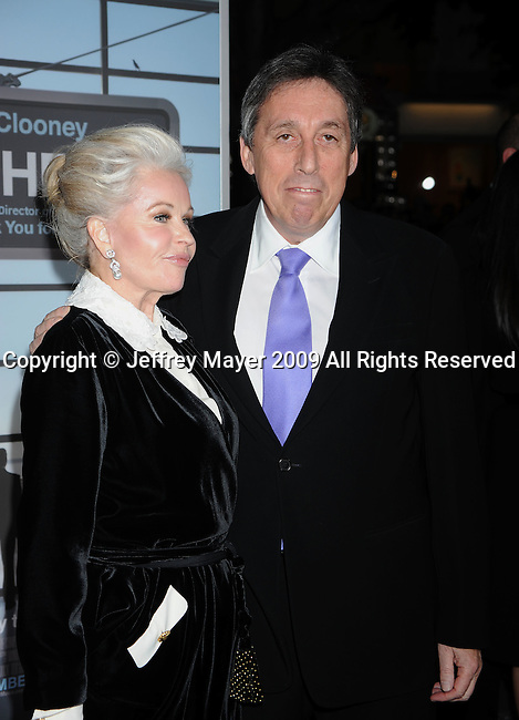 "WESTWOOD, CA. - November 30: Ivan Reitman and wife Geneviève Robert arrive at the ""Up In The Air"" Los Angeles Premiere at Mann Village Theatre on November 30, 2009 in Westwood, California."