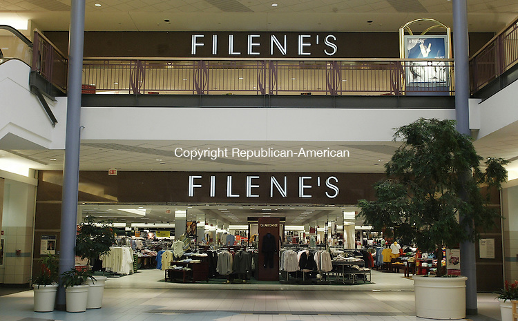WATERBURY, CT - 28 February 2005 -022805BZ02-   Filene's in the Brass Mill Center Monday afternoon.  Federated and May department stores are talking about a merger. <br /> Jamison C. Bazinet Photo