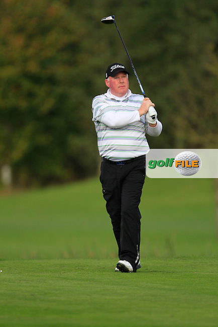 Brendan McGovern (Headfort G.C) on the 16th tee during Round 2 of The Cassidy Golf 103rd Irish PGA Championship in Roganstown Golf Club on Friday 11th October 2013.<br /> Picture:  Thos Caffrey / www.golffile.ie