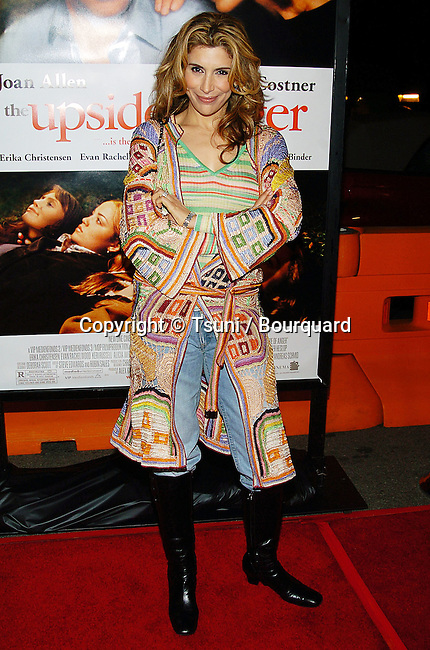 Jo Champa arriving at the Upside Of Anger Premiere at The National Theatre in Los Angeles. March 3, 2005.