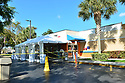 PEMBROKE PINES, FL - MARCH 15: A medical tent has been set up outside Memorial 24/7 Urgent Care Center in anticipation and preparedness for patients needing testing and treatment for the coronavirus disease (COVID-19) in Broward County, FL Governor Ron DeSantis told reporters that his administration was canceling all non-essential travel by state employees and purchasing an additional 2,500 testing kits. Gov. Ron DeSantis confirmed Friday that Florida would vote as scheduled in Tuesday's presidential primaries amid continued concern over the coronavirus outbreak. as of today, Florida had reported 115 cases of COVID-19 and 3 death. Several School around the States have closed schools as well as public facilities, and cancelled all major sports and entertainment events in order to prevent the spread of COVID-19. on March 15, 2020 in Pembroke Pines, Florida. ( Photo by Johnny Louis / jlnphotography.com )