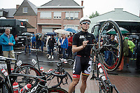 Kris Boeckmans (BEL/Lotto-Belisol) ready to go to the start<br /> <br /> Belgian Championships 2014 - Wielsbeke<br /> Elite Men