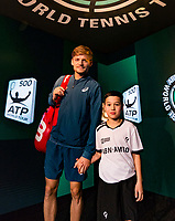 Rotterdam, The Netherlands, 17 Februari, 2018, ABNAMRO World Tennis Tournament, Ahoy, Tennis, David Goffin (BEL), <br />