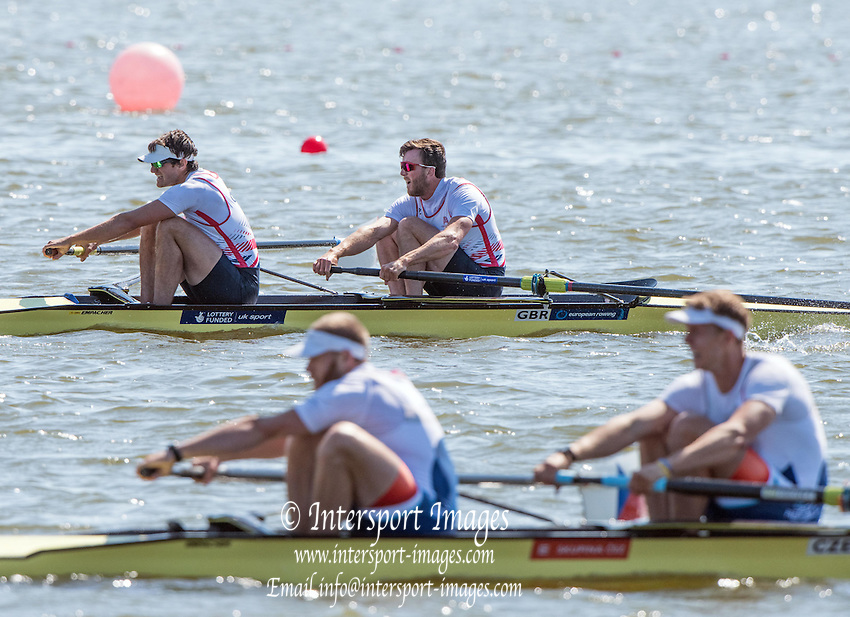 Brandenburg. GERMANY. GBR M2- Bow Alan SINCLAIR and Stewart INNES. <br /> 2016 European Rowing Championships at the Regattastrecke Beetzsee<br /> <br /> Saturday  07/05/2016<br /> <br /> [Mandatory Credit; Peter SPURRIER/Intersport-images]<br /> 2016 European Rowing Championships at the Regattastrecke Beetzsee<br /> <br /> Saturday  07/05/2016<br /> <br /> [Mandatory Credit; Peter SPURRIER/Intersport-images]<br /> 2016 European Rowing Championships at the Regattastrecke Beetzsee<br /> <br /> Saturday  07/05/2016<br /> <br /> [Mandatory Credit; Peter SPURRIER/Intersport-images]<br /> 2016 European Rowing Championships at the Regattastrecke Beetzsee<br /> <br /> Saturday  07/05/2016<br /> <br /> [Mandatory Credit; Peter SPURRIER/Intersport-images]