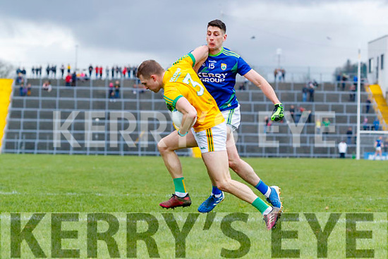 Paul Geaney, Kerry in action against Conor McGill, Meath  during the Allianz Football League Division 1 Round 4 match between Kerry and Meath at Fitzgerald Stadium in Killarney, on Sunday.