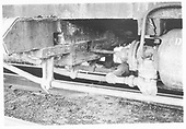 Detail of queen posts and brake cylinder of D&amp;RGW high-side gondola.<br /> D&amp;RG    ca 1972