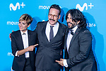 Sara Escudero, Joaquin Reyes and Jose Juan Vaquero attends to blue carpet of presentation of new schedule of Movistar+ at Queen Sofia Museum in Madrid, Spain. September 12, 2018. (ALTERPHOTOS/Borja B.Hojas)