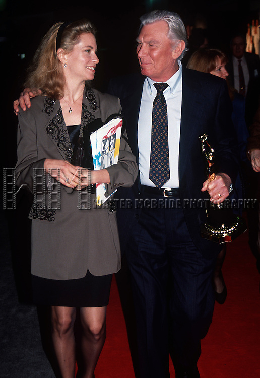 Andy Griffith and wife at the Iris Awards at NATPE in New Orleans, Louisiana in January of 1992. © Walter McBride