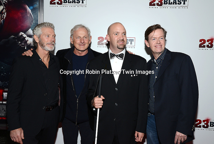 actor Stephen Lang, Victor Garber, Travis Freeman and Dylan Baker  attends the &quot;23 Blast&quot;  Movie Premiere  on October 20, 2014 at The Regal Cinemas E-Walk Theater in New York City.<br /> <br /> photo by Robin Platzer/Twin Images<br />  <br /> phone number 212-935-0770
