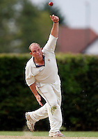 A Greig bowls for Wembley during the Middlesex County League Division three game between Wembley and North London at Vale Farm, Wembley on Sat August 6, 2011