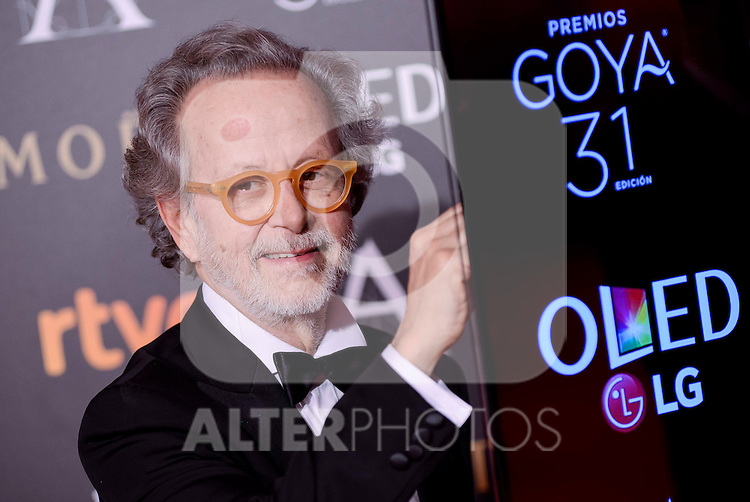 Fernando Colomo attends to the Red Carpet of the Goya Awards 2017 at Madrid Marriott Auditorium Hotel in Madrid, Spain. February 04, 2017. (ALTERPHOTOS/BorjaB.Hojas)