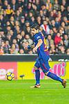 Luis Alberto Suarez Diaz of FC Barcelona runs with the ball during the La Liga 2017-18 match between Valencia CF and FC Barcelona at Estadio de Mestalla on November 26 2017 in Valencia, Spain. Photo by Maria Jose Segovia Carmona / Power Sport Images